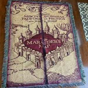 Harry Potter Marauders Map Throw Blanket